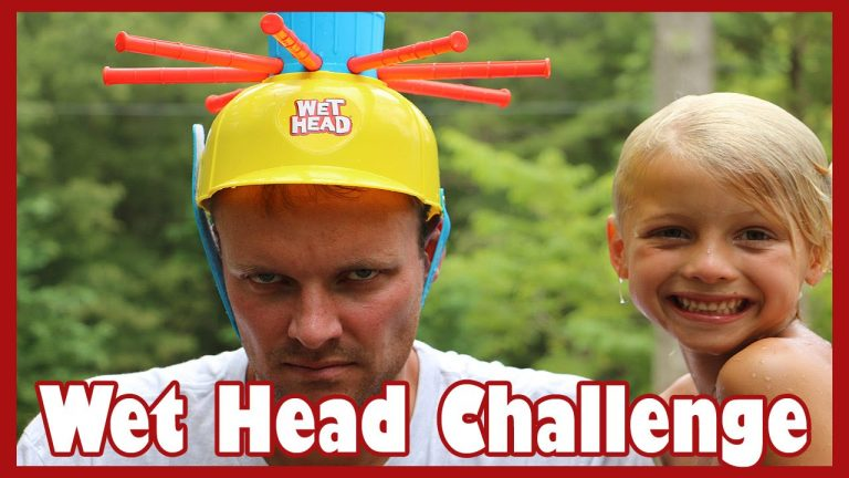 WET HEAD CHALLENGE with Dad!