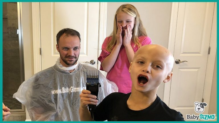 Kids Shave Dad's Head to Support Son with Alopecia